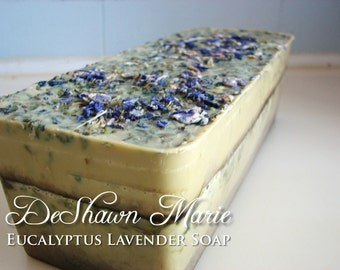 SOAP - 3 lb. Eucalyptus Lavender Vegan Handmade Soap Loaf, Wholesale Soap Loaves