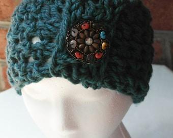 Turquoise Blue Wide Headband