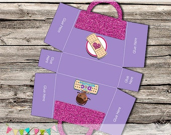 Doc McStuffins Inspired Bag - Party Treat Box 2 - Birthday Party or Wedding Treat Box - Printable - DIY - Digital File - INSTANT DOWNLOAD!