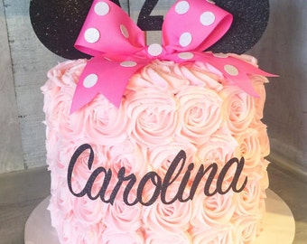 Minnie Mouse Cake Topper Package