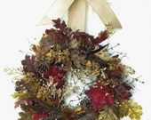 Fall Wreath, Golden Autumn, Front Door Wreath, Outdoor Door Wreath Fall, Fall Door Wreath
