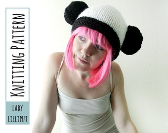 PATTERN - Knitted Panda Hat