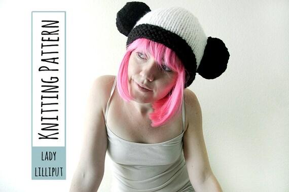 PATTERN - Knitted Panda Hat