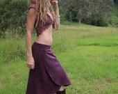 Size S/M Hemp Fleece Forget-Me-Not Skirt