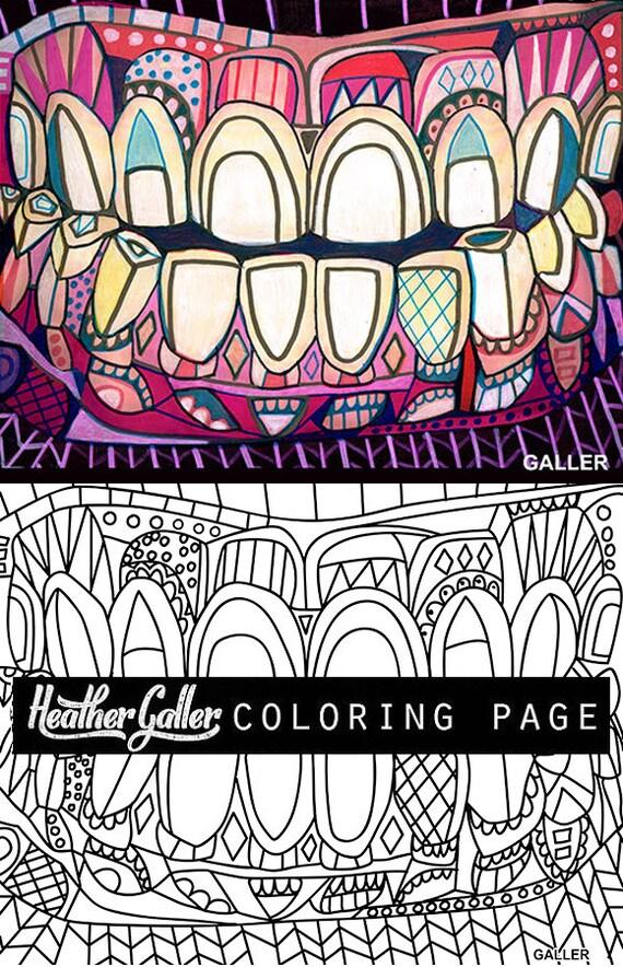 dental coloring dentist teeth tooth anatomy coloring book adult coloring book coloring pages adult coloring pages printable coloring - Dental Anatomy Coloring Book