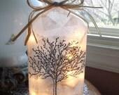 Bare Tree Wine Bottle Light, wine bottle lights, lighted wine bottles, lighted bottles, decorated wine bottles, lamps