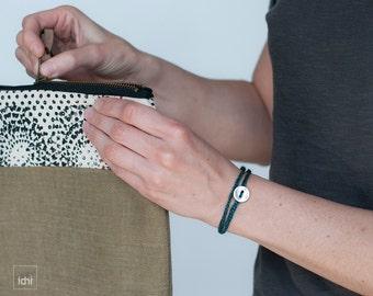 Friendship Bracelet. Crochet Wrap Bracelet. Teal Blue. Simple, beautiful and lightweight. Textile Jewelry. Coiled bracelet. Crochet Jewelry.