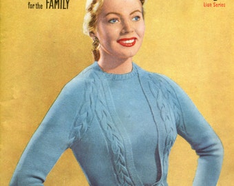 New Knitting No. 26 - 11 Designs for the Family Early 1950s Classic Patterns Booklet Download