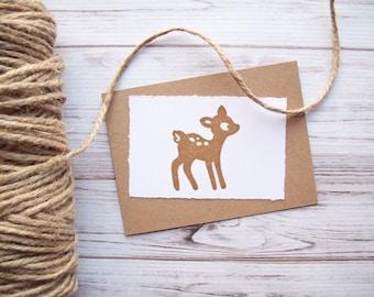 Deer Stamp , Rubber Stamp Woodland Animal