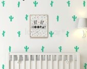 Cactus Decal - Cactus Sticker with wallpaper effect - Removable Wall Decal - AP0057NF