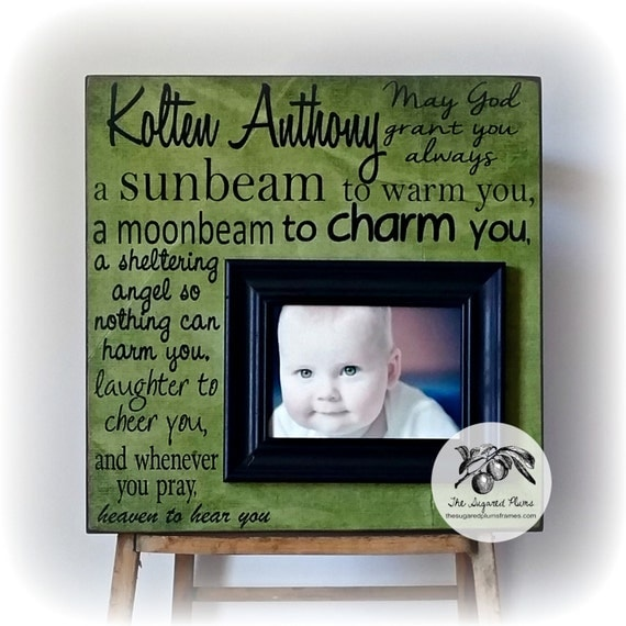 Personalized Baby Gifts Ireland : Irish blessing baby gift personalized baptism