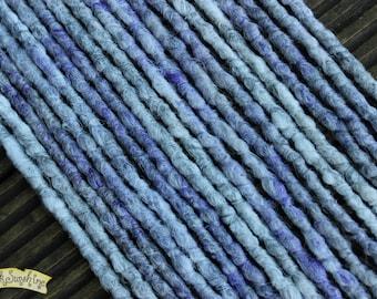 Ghost DE x10 Crochet Synthetic Dreads - white grey purple