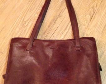 Leather Laptop Case Brown Oiled Leather Briefcase Oroton Sydney Australia
