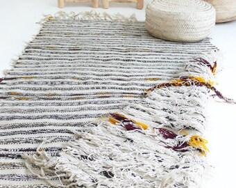 Vintage Beni Ouarain Kilim -  Reversibly Moroccan Rug