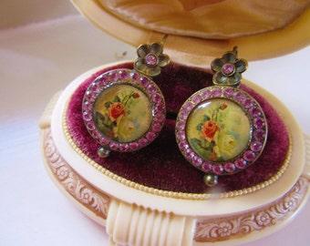 Vintage Designer M. Negrin Earrings Pierced Earrings Lever Back Wires