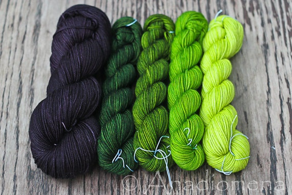 Cloud Sock - Green Pastures gradient - Colour Adventures (fibers: merino, cashmere, nylon)