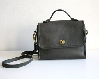 Grayish Coach Satchel
