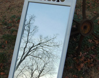 Mid Century, Long Mirror, Dressing Mirror, White Mirror,Hollywood Regency,Choose Color, Size 42 x 20