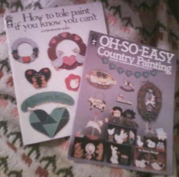 CLEARANCE 2 Hot Off the Press Tole Painting pattern guide books from 1988
