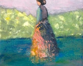 Figurative Oil Painting  Original art Find the Way 8 x 10 x 1.5 Swalla Studio  FREE SHIPPING USA