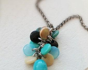 """Antique Silver """"Beach"""" Necklace"""