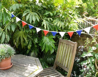Crochet Kit to make Red White and  Blue Mini Pennant Bunting