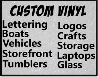 Custom Vinyl Etsy - Custom vinyl lettering