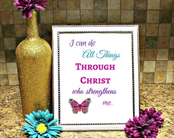 Phil. 4:13 Printable Wall Art
