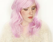 Pastel wig | Realistic wig, Long Pink wig | Wavy wig, Cosplay wig, Scene wig | Spring Fashion for Her | Tulip