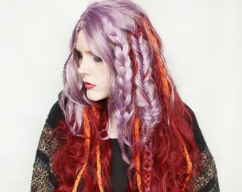 SALE Long wig | Curly wig, Braid wig, Braided wig | Dreadlock Dreads wig | Hippie Hair, Hippie wig, Boho Hair, Costume wig | In the Wild