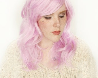 Pastel wig | Long Pink wig | Wavy wig, Cosplay wig, Scene wig | Spring Fashion for Her | Tulip