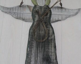 Weathered Wood Angel