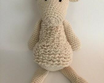 Crochet Amigurumi Sheep Plush