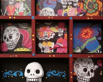 Day of the Dead / Dia de los Muertos Shrine Alter Shadow Box