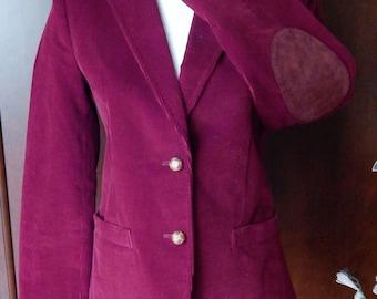 CONTRASTS Velvet Corduroy Size 7 Womens Sports jacket