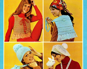 QUICK QUICK CROCHET Beginner's Accessories circa 1973 Pattern Leaflet
