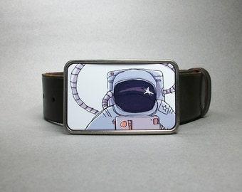 Belt Buckle Spaceman Astronaut Gift for Men or Women