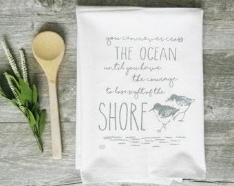 Tea Towel - Sandpiper Towel Sand Piper Nautical Towel Nautical Tea Towel Coastal Decor Nautical Decor Kitchen Towel Summer Decor Beach Decor