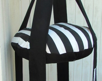 Cat Bed, Black & White Stripe Double Kitty Cloud Hanging Cat Bed, Pet Furniture, Gift