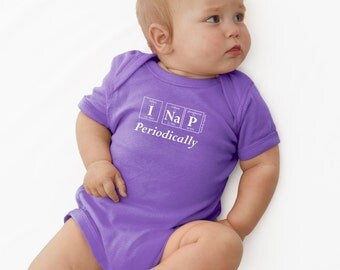 Periodically Inspired I NAP PERIODICALLY Periodic Table Onesie -  New Baby Bodysuit For Periodic Table Fans (Lavender)