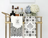 SPECIAL! Literary Tea Towel Set, T. S. Eliot + Jane Austen, Cotton Kitchen Towels, Hostess Gift for Her, Black and White Kitchen Decor, Bar