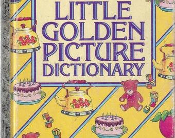 Vintage Little Golden Picture Dictionary, A Little Golden Book, C1981