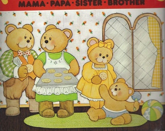 The Four Bears Vintage Paper Doll Playbook, C1981