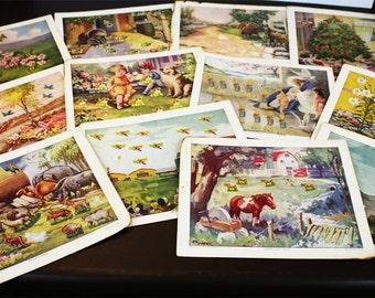 Vintage Sunday School Attendance Plan - Vintage Farm Life Prints