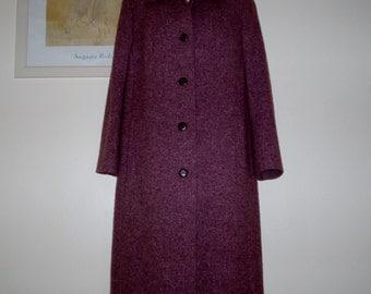 Vintage Dusky Pink  Coat by Eastex c.1980s size UK 14 US 10 12excellent condition