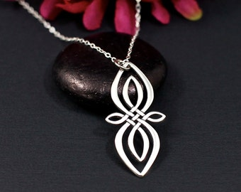 Celtic Infinity Necklace, Sterling Silver | Infinity Necklace | Celtic Knot Necklace | Infinity Jewelry | Infinity Charm Necklace
