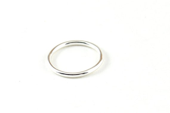 Simple Silver Ring Thick Wedding Band