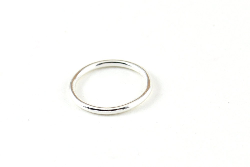 simple silver ring thick silver ring wedding band silver