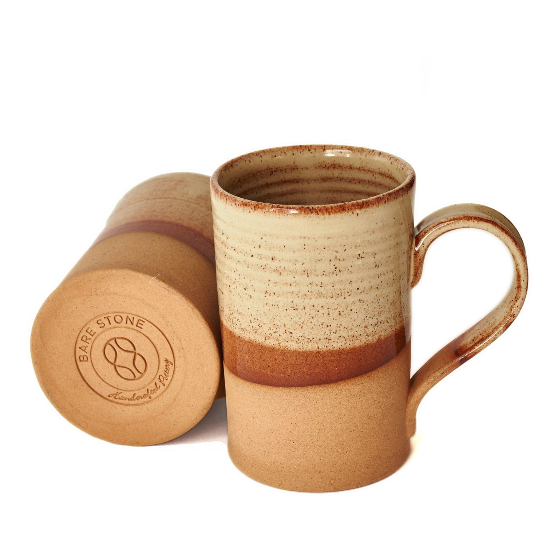 Handmade ceramic mug pottery mug stone roots mug gift for Natural stone coffee mugs
