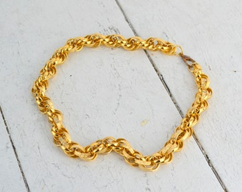 1960s Large Link Gold Chain Necklace